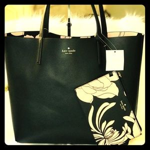 Kate Spade Reversible Tote with Clutch